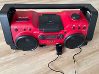 Sony ZS-H10CP Red Portable Heavy Duty CD Radio Boombox Stereo Audio System READ