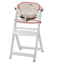 Safety 1st Timba Highchair Seat comes with Cushion Red Lines white
