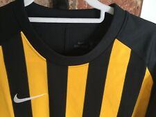 MENS NIKE AUTHENTIC TEAM DRI FIT FOOTBALL SHIRT - XL - Black & Yellow striped