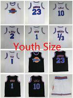 Youth Size Space Jam Tune Squad Basketball Jersey Shorts Lola Bugs Jordan