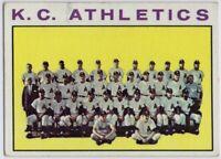 1964 Topps #151 Kansas City Athletics Team VG-VGEX Marked FREE SHIPPING
