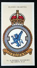 NO 70  SQUADRON  ROYAL AIR FORCE      Original Vintage Card