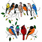 Multicolor Birds on a Wire Stained Glass Suncatcher Window Panel Pendant Gift  l