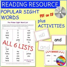 Educational TEACHING RESOURCE READING SIGHT WORDS Lists and ACTIVITIESPDF