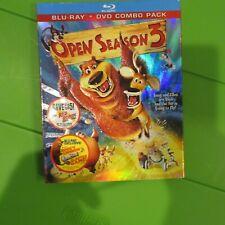 Open Season 3 (Blu-ray/DVD, 2011, 2-Disc Set) w/Slipcover