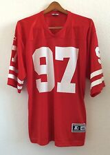 Nebraska Cornhuskers #97 Jersey Starter Red Size 48L