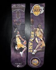 *Custom Kobe Bryant Dedication Laker socks #8/#24