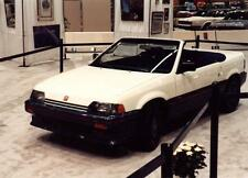 Old Photo.  1984 Honda CRX Spyder Automobile in Showroom