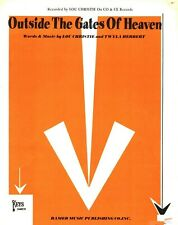 LOU CHRISTIE OUTSIDE THE GATES OF HEAVEN SHEET MUSIC PIANO/V/GUITAR/CHORDS 1966