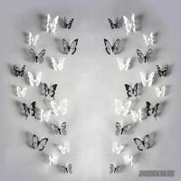18PCs 3D Butterfly Wall Stickers Art Decal Home Room Decorations Decor Kids PVC