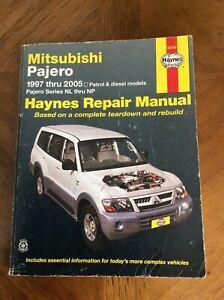 MITSUBISHI PAJERO 1997 - 2005 NL thru NP Petrol & Diesel REPAIR MANUAL by HAYNES
