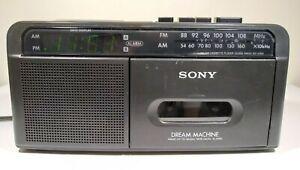 Sony Dream Machine Alarm Clock ICF-C610 AM/FM Radio Cassette Player Fully Tested