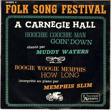 """RARE MUDDY WATERS / MEMPHIS SLIM """"FOLK SONG FESTIVAL"""" FRENCH 60'S EP"""