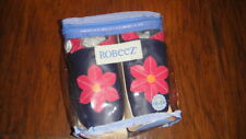 NEW ROBEEZ 18-24 NAVY BLUE PINK FLOWER SHOES BABY LEATHER