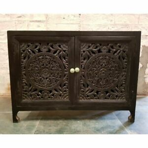Made to Order Dynasty Hand Carved Indian Solid Wood Buffet Sideboard M