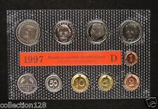 Germany Coins Set of 10 Pieces 1997 D Edition Unc