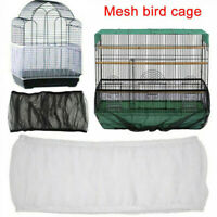 Mesh Guard Pet Bird Cage Net Cover Shell Skirt Traps Cage Basket Catcher