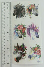 Antique Collection Violette Stickers - Unicorns - Large Sheet of Fancy Unicorns