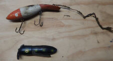 VINTAGE FISHING LURES HARGRETT FISHING PLUG  AND OTHER FISH BAIT TACKLE