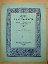 EXAMINATION MUSIC FROM THE LIST OF TRINITY COLLEGE OF MUSIC INTERMEDIATE DIV