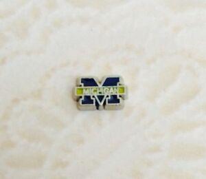 M  University of Michigan U of M Silver Floating Charm for Living Memory Locket