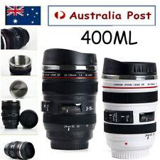 Camera Lens Shape Cup Coffee Tea Travel Mug Stainless Steel Vacuum Tumbler AU