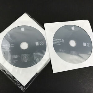 PowerBook G4 Software Install Discs Mac OS Version 10.3.4 - 2 Disc Set