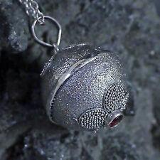 unser Schönster Engelrufer Granat 925 Silber Klangkugel D:2cm Hand geschmiedet