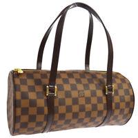 LOUIS VUITTON PAPILLON 30 HAND BAG PURSE DAMIER EBENE N51303 MB0073 JT09035a