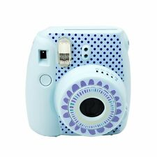 Cute Fujifilm Instax Mini 8 Camera Decoration Body Sticker Decal Sunflower-Blue