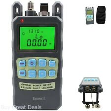 Egomall Meter Sockets Fiber Optic Cable Tester -70 to +10dbm and 1mw 3.1mi Optic