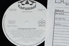 SCHLAGERPARADE 1975 (Wolf Bach, Anja..) LP 1975 Karussell Promo Archiv-Copy mint