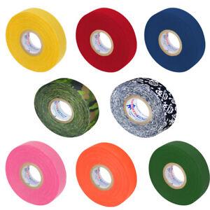 Ice Hockey Cloth Stick Tape Wrap Roller Red Blue Yellow Green Orange Pink Skull