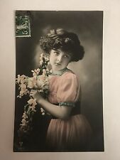 Edwardian Girl Photo Postcard