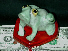JADE CARVED   FROG  Symbol Wealthy and Good Luck  L