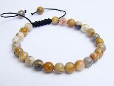 Men's bracelet all 8mm Natural Gemstone Crazy Agate beads