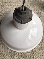 Vintage 12 Miller Porcelain Light Lamp Shade Gas Asylum Station barn Industrial