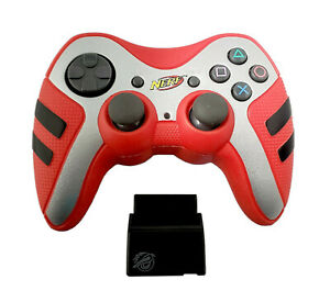 Pelican PL-6681 Nerf Wireless RED Gaming Controller for PlayStation 2 PS2