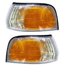 1992 1993 HONDA ACCORD CORNER LIGHTS LAMPS PAIR LEFT AND RIGHT SET