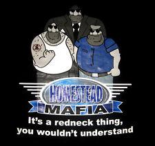 """It's a Redneck Thing"" HOMESTEAD MAFIA T-Shirt -Men's Size MEDIUM Tee, Black NEW"