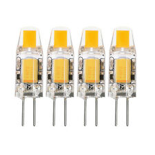 4x G4 5W 6W AC DC 12V Dimmable LED COB Mini Bulb Light Replace Halogen Lamp