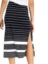 4d67cf6c198b ATHLETA Stripe Oceana Midi Skirt BLACK WHITE Extra Small XXS 2XS NEW  69  RETAIL