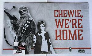 "Disney STAR WARS Chewbacca CHEWIE WE'RE HOME 18""X30"" Rubber Doormat Millennium"