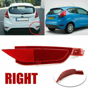 For 08-2012 Ford Fiesta Mk7 Right Side Rear Bumper Reflector Fog Light Lens Red