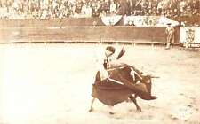 Guadalupe Nuevo Leon Mexico bullfighter bull in ring real photo pc Z16211