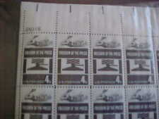 1119 Sheet Of 50 Freedom Of The Press Face + 3.00
