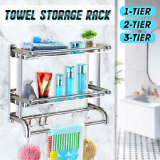 Towel Rack Bathroom Shelf Storage Holder 304 Stainless Steel Mounted