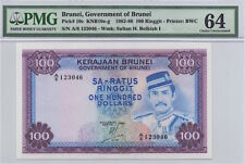 BRUNEI P10c 1983 100 RINGGIT NOTE PMG CHOICE UNCIRCULATED 64