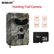 Cámara de caza de gran angular PR-100 de 12MP 1080P HD IR 120 ° IP56 + 16GB TF