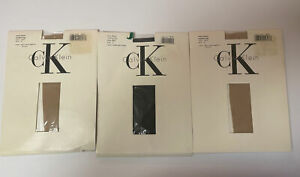 Calvin Klein Very Sheer Pantyhose Size 2 Light 3 And Navy Color # 800 Lot Of 3
